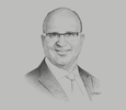 Sketch of Marc Nassif, CEO, Groupe Renault Morocco