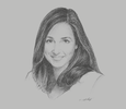 Sketch of Selma Belkhayat, Managing Director, Aswaq Management Services (AMS) Morocco