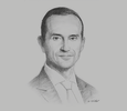 Sketch of Hicham Naciri, Managing Partner, Naciri & Associés with Allen & Overy