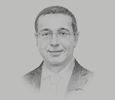 Sketch of Mohamed Boussaid, Minister of Economy and Finance
