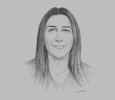 Sketch of Nawal Chraibi, Acting CEO, Moroccan Foundation for Advanced Science
