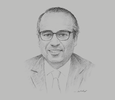 Sketch of Ayman Cheikh-Lahlou, President, Moroccan Pharmaceutical Industry Association (AMIP); and CEO, Cooper Pharma