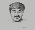 Sketch of Abdul Razak Ali Issa, CEO, Bank Muscat