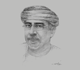 Sketch of Fuad bin Jaafar bin Mohammed Al Sajwani, Minister of Agriculture and Fisheries Wealth