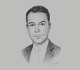Sketch of Ben Ewing, Partner, CMS