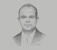 Sketch of Mohamed Farid Saleh, Chairman, Egyptian Stock Exchange (EGX)