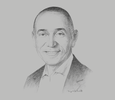 Sketch of Ayman Khattab, President and CEO, General Electric (GE) North-east Africa; and Vice-President, South Gulf and East Africa, Baker Hughes GE