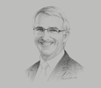 Sketch of Gerald Lawless, Chairman, World Travel & Tourism Council (WTTC)