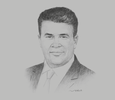 Sketch of Hamed Mabrouk, Head of North Africa, Willis Towers Watson