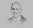 Sketch of Tarek Kabil, Minister of Trade and Industry