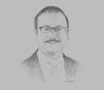 Sketch of Eng. Yasser El Kady, Minister of Communications and Information Technology