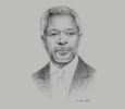 Sketch of Kofi Annan, Chairman, Africa Progress Panel