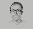 Sketch of Janine Kacou Diagou, Managing Director, Group NSIA