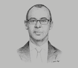 Sketch of Thierry Tanoh, Minister of Petroleum, Energy and Renewable Energy Development