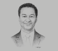 Sketch of Pierre Billon, Managing Director, SIFCA Group