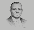 Sketch of Amidou Traoré, Director-General, CI-Energies