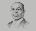Sketch of Claude Isaac Dé, Minister of Construction, Housing, Sanitation and Urbanism