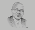Sketch of Philippe Eponon, President, Ivorian Group of Construction and Public Works