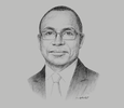 Sketch of Koffi N'Guessan, Director-General, Institut National Polytechnique Félix Houphouët-Boigny