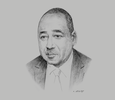 Sketch of Prime Minister Amadou Gon Coulibaly, Minister of Budget and State Portfolio