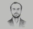 Sketch of Clyde Fakhoury, Administrative Director, PFO Africa