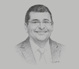 Sketch of Hesham El Amroussy, Chairman and Managing Director, Lubricants Manager Africa and Middle East, ExxonMobil Egypt