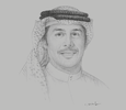 Sketch of Khalid Al Rumaihi, Chief Executive, Bahrain Economic Development Board (EDB)