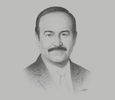 Sketch of Abdul Hussain bin Ali Mirza, Minister of Electricity and Water