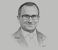 Sketch of Hassan Jarrar, CEO, Bahrain Islamic Bank