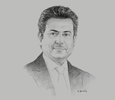Sketch of Mohamed Yousif Al Binfalah, CEO, Bahrain Airport Company