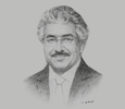 Sketch of Riyad Y Hamzah, President, University of Bahrain (UoB)