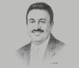 Sketch of Ahmed Al Shaikh, Director, Bahrain Institute of Banking and Finance (BIBF)