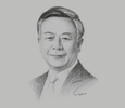 Sketch of Jin Liqun, President, Asian Infrastructure Investment Bank (AIIB)