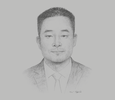Sketch of Chen Bo, General Manager, China Road and Bridge Corporation