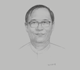 Sketch of U Thant Sin Maung, Union Minister, Ministry of Transport and Communications