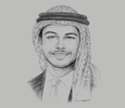 Sketch of Crown Prince Hussein