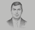 Sketch of Saleh Kharabsheh, Minister of Energy and Mineral Resources