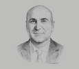 Sketch of Muhannad Shehadeh, Minister of State for Investment Affairs
