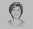 Sketch of Lina Annab, Minister of Tourism and Antiquities