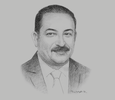 Sketch of Ghazi Al Jobor, CEO, Telecommunications Regulatory Commission