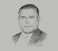 Sketch of Kjeld Binger, CEO, Airport International Group (AIG)