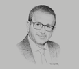 Sketch of Bilel Sahnoun, CEO, Tunis Stock Exchange (Bourse des Valeurs Mobilières de Tunis, BVMT)