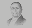 Sketch of Charles Kimei, CEO and Managing Director, CRDB Bank