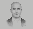 Sketch of Jared Zerbe, CEO, Tanzania International Container Terminal Services (TICTS)