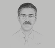 Sketch of Sulaiman Shahabuddin, Regional CEO, Aga Khan Health Services, East Africa
