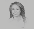 Sketch of Nura-Lisa Karamagi, CEO, Hotels Association of Tanzania (HAT)