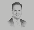 Sketch of Steven Ciobo, Minister for Trade, Tourism and Investment of Australia