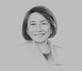 Sketch of Rizalina Mantaring, CEO and Country Head, Sun Life