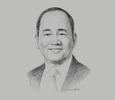Sketch of Ramon S Monzon, President and CEO, Philippine Stock Exchange (PSE)