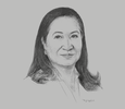 Sketch of Andrea Domingo, Chairman and CEO, Philippine Amusement and Gaming Corporation